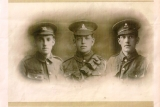 ADAMS CHARLES EDWARD (in the middle, his brother John on the right and brother George to the left)