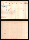 ARCHER SIDNEY GEORGE (medal card)