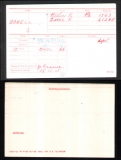 BONELL SIDNEY ALFRED WILLIAM(medal card)