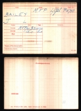 JAMES LEWIS BAILEY (medal card)