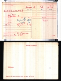 BIDDLECOMBE WALTER STEPHEN(medal card)