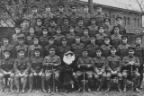 AGAR ALFRED (2nd row down from the top 2nd soldier in from the left, day before embarkation)