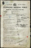 BEER WILFRED HEARD (attestation paper)