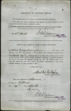 BILLINGHAM ALBERT GEORGE (attestation paper)