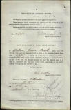 BOOTH WILLIAM ERNEST (attestation paper)