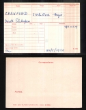 GERALD SHAKESPEAR CRAWFORD(medal card)