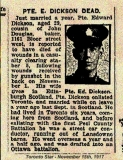 DICKSON EDWARD (Toronto Star, 15 November 1917)