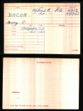 HENRY JOSEPH HJ BACON(medal card)