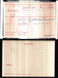 FREDERICK WILLIAM FW BODDY(medal card)