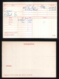 ROBERT SHELTON RS COOK(medal card)