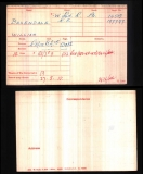 BAXENDALE WILLIAM(medal card)