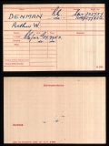 DENMAN ARTHUR WILLIAM(medal card)