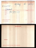 ASLETT EDWARD(medal card)