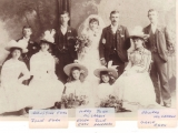 Egan Augustine (wedding photo of Mary and John McCarron, Augustine's sister; Augustine is 2nd on the left)