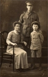 Verrall Arthur John (with his wife Edith and son Arthur John)