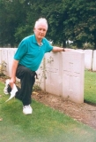 William Airey Raymond Boyd nephew at grave, 1998.