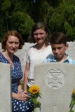 Baigent TG - remembrance August 2018, his great granddaughter Louice Vincer and her children Miriam and Benedict Dodd