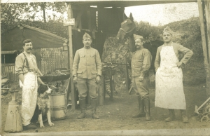 picture of a veterinary aid post 1918